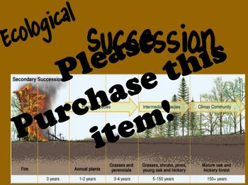 Ecological Succession Flipchart PDF ONLY