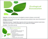 Ecological Succession Hyperdoc Inquiry Activity