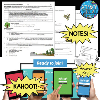 Ecological Succession Interactive PowerPoint, Notes, and KAHOOT! Bundle