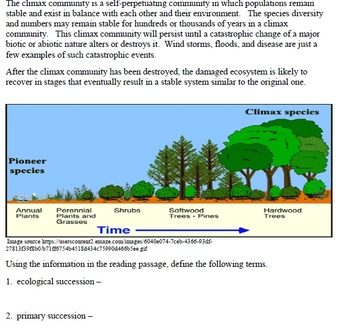 Ecological Successions Activity