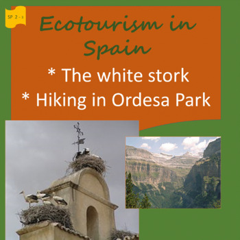 Ecotourism Spain: stork migration + Ordesa Park / 2 thematic units - SP Inter.1