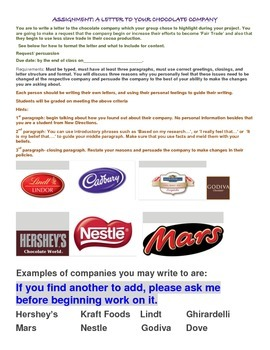 Ecological study of FAIR TRADE COCOA BEANS AND CHOCOLATE WRITING ASSIGNMENT