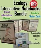 Ecology Interactive Notebooks: Animal Adaptations, Biomes, Habitats, Water Cycle