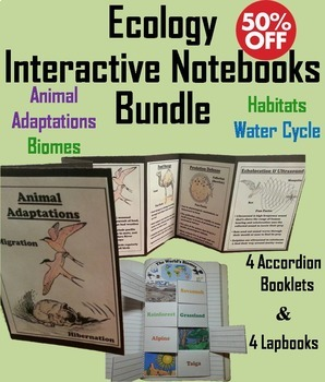 Ecology Interactive Notebooks: Animal Adaptations, Biomes,