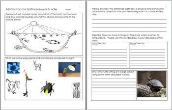 Ecology Unit, Nonliving Factors, Cycles