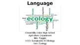 Ecology Academic Language (Ecology Unit Vocabulary)