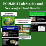 Ecology Activities - Lab Stations & Digital Scavenger Hunts