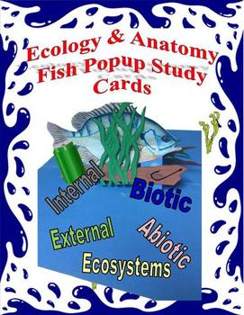 Ecology & Anatomy Study Cards Fish Pop-up
