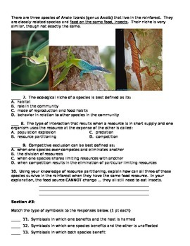 Ecology Basics Test
