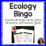Ecology Bingo Vocabulary Review Game