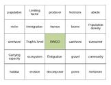Ecology Bingo Cards