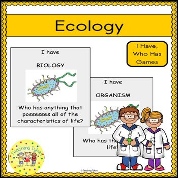 Ecology Biology I Have, Who Has Games