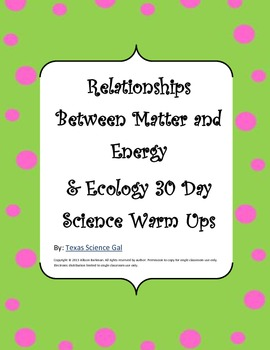 Abiotic and Biotic Factors, Ecology, & Biome 30 Day Quick