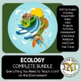 Ecosystems - PowerPoint, Handouts, INB, Task Cards, Word Wall