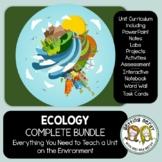 Ecology Complete Bundle - PowerPoint Unit, INB, Task Card, Word Wall + DIGITAL