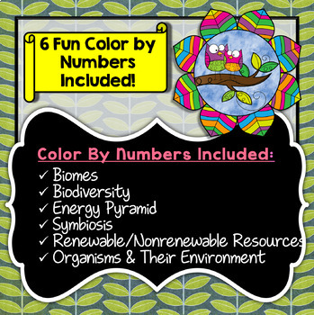 Ecology - Science Color By Number Bundle (Save 30%)