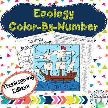 Ecology Color by Number **Thanksgiving Edition**