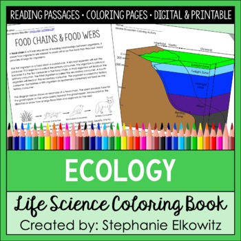 Ecology And Ecosystems Coloring And Reading Unit By