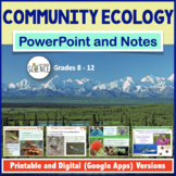 Community Ecology PowerPoint and Notes | Printable and Digital Distance Learning