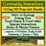 Community Interactions 13 Day NO PREP Unit Bundle: Lessons, Activities, Tests