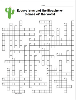 ecology crossword puzzles by amy brown science tpt. Black Bedroom Furniture Sets. Home Design Ideas