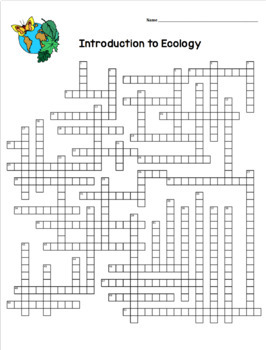 Ecology Crossword Puzzles By Amy Brown Science