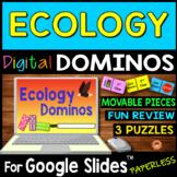 Ecology DIGITAL DOMINOS for Google Slides ~3 Puzzles~