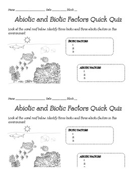 Ecology Daily Quizzes