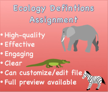 Ecology Definitions