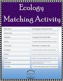 Ecology Digital Matching Activity - Google Classroom, Canv