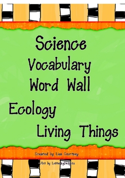 Ecology Ecosystem Environment Science Word Wall Vocabulary