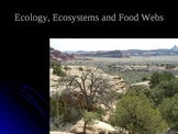 Ecology, Ecosystem and Food Webs Power Point