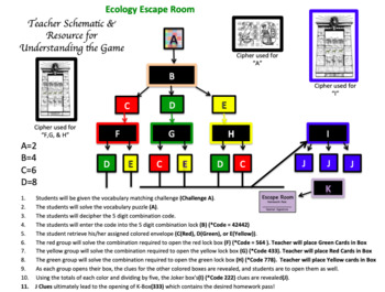 Ecology Escape Room