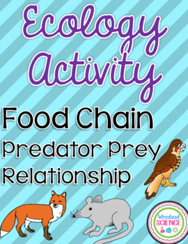 Ecology Food Chain, Predatory, Prey Activity - Editable