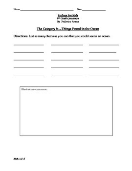 Journeys Common Core 4th - Ecology For Kids Supplemental Packet for the SLP