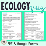 Ecology Quiz - FREEBIE!