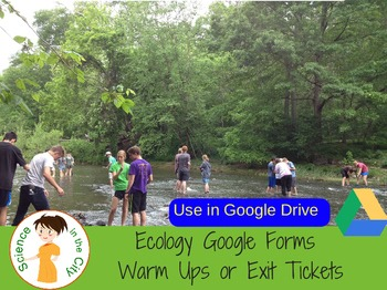 Ecology Google Form Exit Ticket or Bell Ringer Assessments