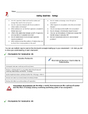 Ecology Guiding Questions & Student Self-Assessment