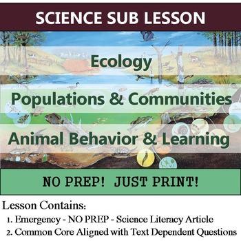 Ecology, Habitat, Communities, Populations Sub Lesson - NO PREP