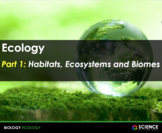 PPT - Ecology: Habitats, Biomes, Food Chains & Webs, Relat