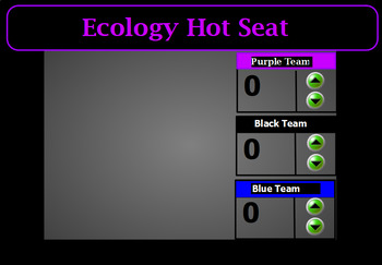 Ecology Hot Seat Review Game-ActivInspire Flipchart
