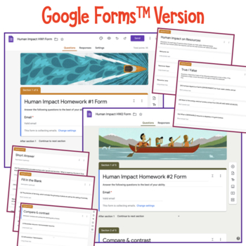 Ecology: Human Impact on the Environment Homework Assignments