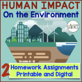 Ecology: Human Impact on the Environment Homework Assignments Distance Learning
