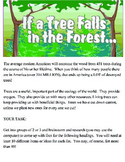 Ecology:  If a Tree Falls in the Forest