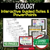Ecology Guided Notes and PowerPoints NGSS, Life Science, Biology