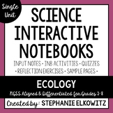 Ecology and Ecosystems Interactive Notebook Unit | Editable Notes