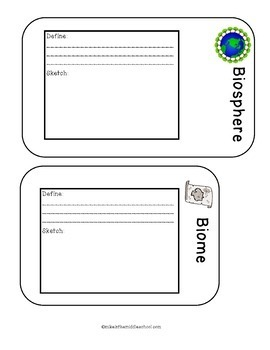 Ecology Color and Cut Notebook  Pages for Middle School