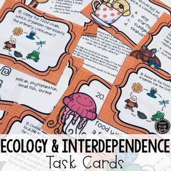 Ecology (Interdependence) Unit Review Task Cards