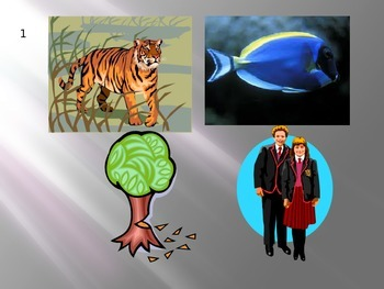 Ecology Introduction - 4 Pics and 1 Word Power point