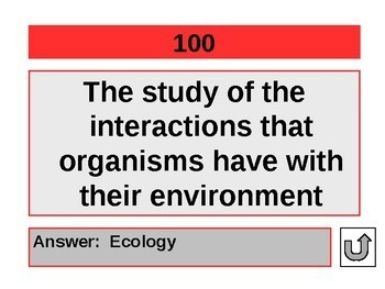 Ecology Jeopardy Review Game